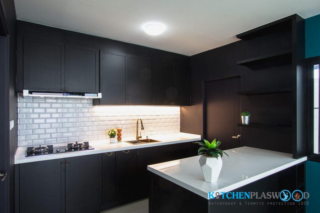 Premium Black Kitchen ชุดครัวดำสุดหรู