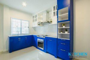 ชุดครัว l shape กับตู้สูง