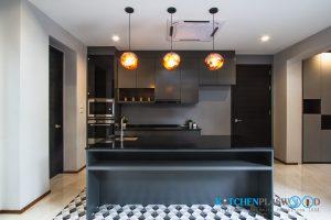 ห้องครัวสไตล์ลอฟ I Shape + โต๊ะไอส์แลนด์