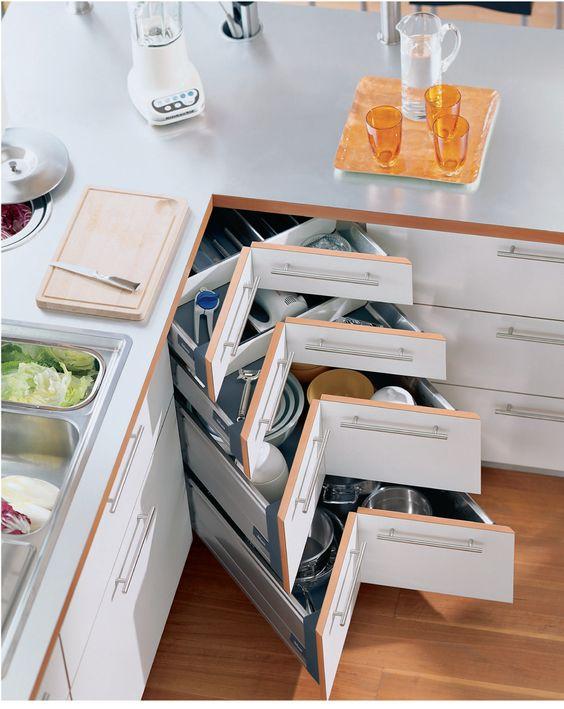ไอเดียการจัดเก็บของสำหรับครัวขนาดเล็ก ครัวคอนโด,การจัดเก็บของภายในครับ,ลิ้นชักชุดครับ