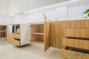 Modern Kitchen ชุดครัวโมเดิร์นในสไตล์ Minimal, เปิดปิด Soft Close