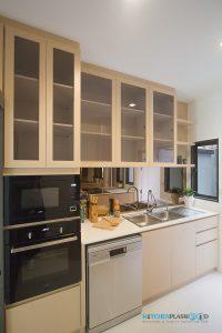 ชุดครัวลายไม้ ชุดครัวพลาสวูด 100%, ชุดตู้สูง