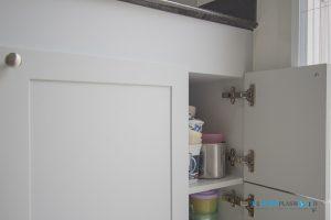 บานพับแบบ Soft Close, ชุดครัว I-Shape ทับโครงปูน ด้วยโครงสร้าง Plaswood