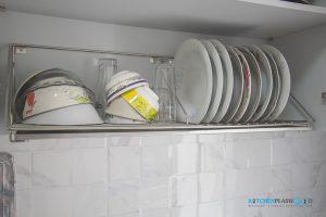ชุดตะแกรงพักจานใต้ตู้ลอย, ชุดครัว I-Shape ทับโครงปูน ด้วยโครงสร้าง Plaswood