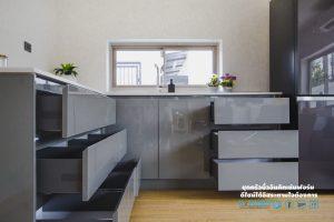 ลิ้นชัก Soft Close, Super Perfect Counter Kitchen : เคาน์เตอร์ครัว เงาวับ
