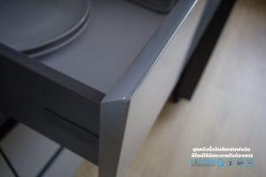 มือจับในตัวแบบ เพ่ หน้าบาน, Super Perfect Counter Kitchen : เคาน์เตอร์ครัว เงาวับ