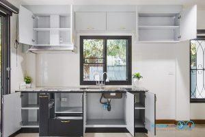 สีภายในลามิเนตเทาด้าน, Mini Kitchen I Shape : ครัวบานเรียบในสไตล์โมเดิร์น