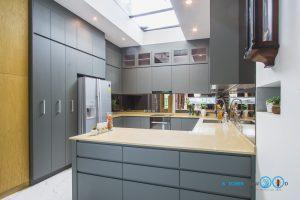 ชุดครัวบิ้วอินสุดเรียบหรู C Shape Luxury, Modern Luxury