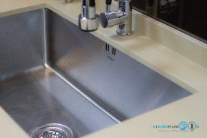ชุดครัวบิ้วอินสุดเรียบหรู C Shape Luxury, อ่างล้างจาน TEKA