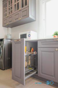 ชุดตะแกรงจัดเก็บภายในตู้, Classic I Shape Kitchen ชุดครัวหรูสไตล์คลาสสิค