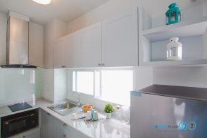 Mini Kitchen L Shape : ชุดครัวไซส์เล็ก เข้ามุมสุดเนี๊ยบ, ชุดครัวสีเทาอ่อน 8290 Prai smoke,