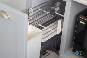 Mini Kitchen L Shape : ชุดครัวไซส์เล็ก เข้ามุมสุดเนี๊ยบ, ชุดตะแกรงใส่อุปกรณ์ทำครัว,