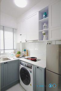 Mini Kitchen : ชุดครัวทูโทนในพื้นที่จำกัด, ชุดครัวคอนโด L Shape,