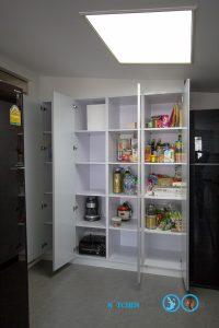 Modern White Hi Gross  ชุดครัวสไตล์โมเดิร์นสีขาวเงา, ตู้ Pantry,