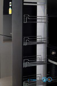 Modern Black Kitchen ชุดครัวดำสุดเท่ ในสไตล์โมเดิร์น, ชุดตะแกรงตู้สูง,
