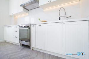White Modern Kitchen, หน้าบานยกขอบสไตล์คลาสสิค,
