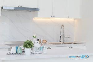 White Modern Kitchen, ผนังกันคราบหินอ่อน,