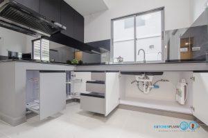 ชุดครัวดีไซน์โมเดิร์น L Shape Gray Tone Kitchen, ภายในตู้ครัว,