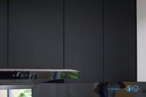 ชุดครัวดีไซน์โมเดิร์น L Shape Gray Tone Kitchen, ตู้ลอย HMR,