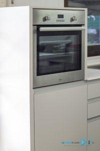 Built In Modern Kitchen ชุดครัวสีเทาในสไตล์โมเดิร์นเรียบเท่, เตาอบบิ้วอิน,