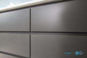 Gray Modern Kitchen, ชุดครัวสีเทาด้าน,