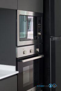 Gray Modern Kitchen, เตาอบ&ไมโครเวฟ,