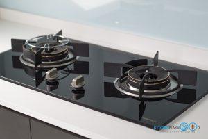 Gray Modern Kitchen, เตาแก๊ส,