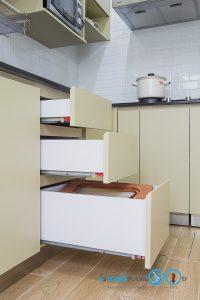 Modern Kitchen L Shape, รางลิ้นชักแบบรับใต้,