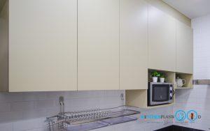 ตู้ลอยหน้าบานเรียบ, Modern Kitchen L Shape,