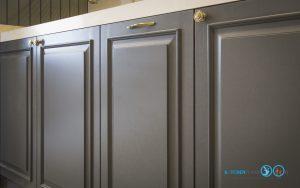 Classic Kitchen : ชุดครัวหรู ในสไตล์คลาสสิค, ชุดครัวสีเทาพ่นด้าน,