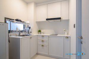 ชุดครัวบิ้วอินขนาดเล็ก Mini Kitchen L Shape, ชุดครัวขนาดเล็ก, ชุดครัวสีทูโทน,