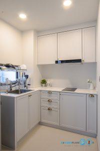 ชุดครัวบิ้วอินขนาดเล็ก Mini Kitchen L Shape, ชุดครัวขนาดเล็ก, ชุดครัวโมเดิร์น, ชุดครัวทูโทน,