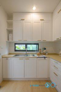 ชุดครัวบิ้วอินสไตล์วินเทจหรู Clean Vintage Luxury Kitchen, ชุดครัวตัวแอล, L Shape Kitchen,