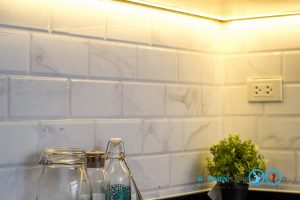 Modern Oyster Grey Kitchen ชุดครัวสไตล์โมเดิร์น โทนสีหอยนางรม, ผนังกันคราบ, กระเบื้องกันคราบ,