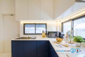 Two Tone Modern Kitchen ชุดครัวสองสี ในสไตล์โมเดิร์น, ชุดครัวทูโทน,
