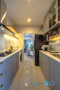 Classic Kitchen 2 Side I Shape เรียบหรูแบบมีสไตล์, ชุดครัวสีเทา,