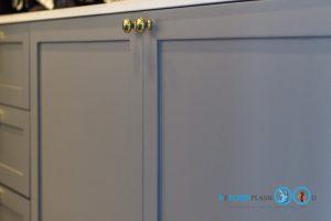 Classic Kitchen 2 Side I Shape เรียบหรูแบบมีสไตล์, หน้าบานยกขอบ, หน้าบานคลาสสิก,