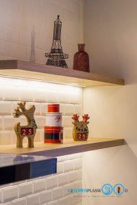 Classic Kitchen 2 Side I Shape เรียบหรูแบบมีสไตล์, ชุดครัวสีเทา, ชั้นไม้ลามิเนต, ชั้นไม้ตกแต่ง,