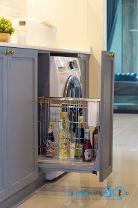 Classic Kitchen 2 Side I Shape เรียบหรูแบบมีสไตล์, ชุดตะแกรงอเนกประสงค์, อุปกรณ์ฟิตติ้ง,