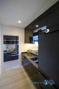 Luxury Black Kitchen, ชุดครัวตัวไอ, I Shape Kitchen,