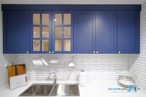 ชุดครัวสายหวาน, Sweet Kitchen Design, ชุดครัวบิ้วอิน, หน้าบานกระจก, หน้าบานคลาสสิค, กระจกสีชา,