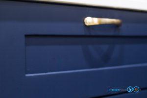 ชุดครัวสายหวาน, Sweet Kitchen Design, ครัวสีน้ำเงิน, สีพ่นสีน้ำเงาด้าน, สีพ่นด้าน,