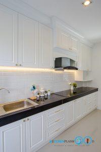 6 ไอเดีย ทำครัวโครงปูนเชยๆ ให้สวยเท่ทันสมัย, ชุดครัวปูน, โครงสร้างปูน, ครัวปูน, ชุดครัวสไตล์คลาสสิก, Classic Kitchen, ชุดครัวสีขาว,