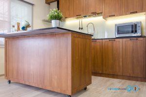 ชุดครัว Modern Kitchen ลายไม้ Tintore Walnut, ครัวลายไม้, โต๊ะไอแลนด์, ชุดครัวสไตล์โมเดิร์น, ชุดครัวขนาดกลาง,