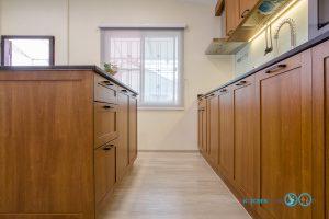 ชุดครัว Modern Kitchen ลายไม้ Tintore Walnut, ครัวลายไม้, โต๊ะไอแลนด์, ชุดครัวสไตล์โมเดิร์น, ชุดครัวขนาดกลาง, หน้าบานยกขอบ, หน้าบานลายไม้,