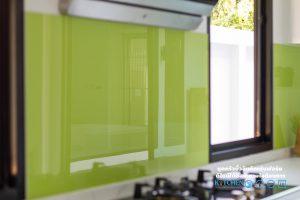 ขั้นตอนการทำครัวบิ้วอิน Kitchenform, ชุดครัวบิ้วอิน, ทำครัวบิ้วอิน, ผนังกันคราบ, เลือกผนังกันคราบ, กระจกพ่นสี,