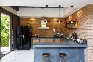 6 ไอเดีย ทำครัวโครงปูนเชยๆ ให้สวยเท่ทันสมัย, ชุดครัวปูน, โครงสร้างปูน, ครัวปูน, ครัวปูนสไตล์ลอฟ, Loft Kitchen, U Shape,