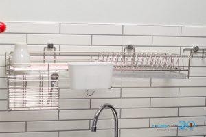 ชุดครัวหลังบ้านสไตล์โมเดิร์น โทนสีเทสด้าน, อุปกรณ์ฟิตติ้ง, ชุดตะแกรงจัดเก็บ,