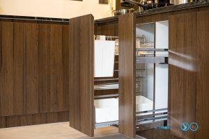 Modern Kitchen ชุดครัวบิ้วอินลายไม้โอ๊ก + สีพ่นครีม, ชุดครัวบิ้วอิน, ห้องครัว, เฟอร์นิเจอร์บิ้วอิน, ครัวลายไม้, ชุดครัวตัวแอล, ชุดตะแกรงจัดเก็บ, อุปกรณ์ฟิตติ้ง,