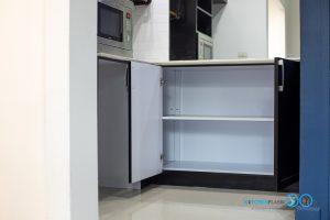 ชุดครัวบิ้วอินสุดเท่สไตล์ Industrial Loft โทนสีดำด้าน, ชุดครัวบิ้วอิน, ครัวสไตล์ลอฟท์, Loft Kitchen, Industrial Loft Kitchen, ชุดครัว I Shape, ชุดครัวสีดำด้าน, ตู้สูง, ชุดตะแกรงจัดเก็บ, ช่องจัดเก็บของ,